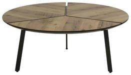COUCHTISCH in Metall, Holzwerkstoff  86/35 cm  - Schwarz/Braun, Design, Holzwerkstoff/Metall (86/35cm) - Carryhome
