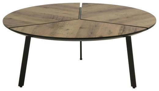 COUCHTISCH rund Braun, Schwarz - Schwarz/Braun, Design, Metall (86/35cm) - Carryhome