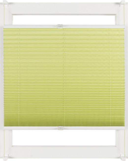 PLISSEE  halbtransparent   80/210 cm - Grün, Design, Textil (80/210cm) - Homeware