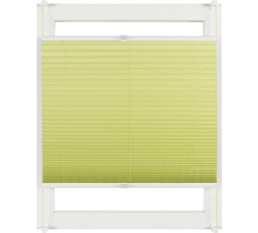PLISSEE  halbtransparent   75/130 cm - Grün, KONVENTIONELL, Textil (75/130cm) - Homeware