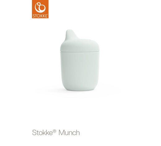 TRINKBECHER - Weiß/Mintgrün, KONVENTIONELL, Kunststoff (8/11cm) - Stokke