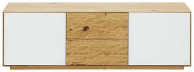 GARDEROBENBANK 138/44/37 cm - Eichefarben/Weiß, Natur, Glas/Holz (138/44/37cm) - Valnatura