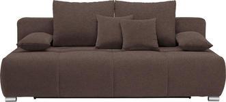SCHLAFSOFA in Textil Braun  - Chromfarben/Braun, Design, Kunststoff/Textil (212/72-90/108cm) - Hom`in