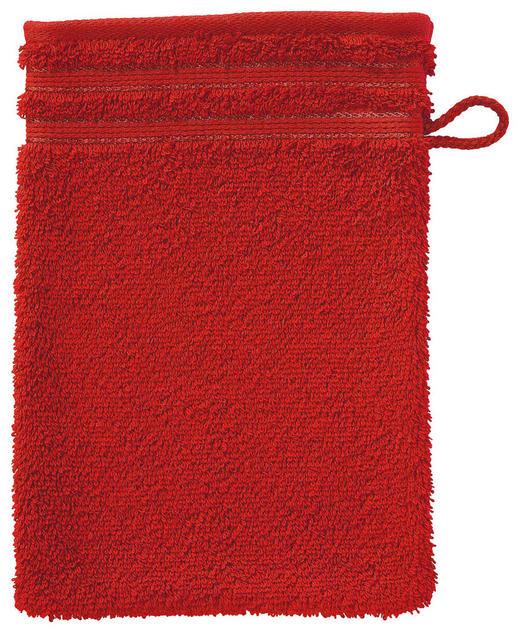 WASCHHANDSCHUH  Dunkelrot - Dunkelrot, Basics, Textil (22/16cm) - VOSSEN