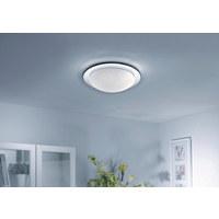 STROPNA LED-SVETILKA - nikelj, Design, kovina/steklo (38/38/10cm) - CELINA