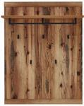 GARDEROBENPANEEL 90/117/30 cm  - Graphitfarben/Braun, Trend, Holzwerkstoff (90/117/30cm) - Voleo