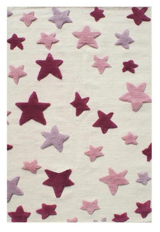 KINDERTEPPICH  100/160 cm  Naturfarben, Rosa, Rot - Rot/Naturfarben, Basics, Textil (100/160cm)