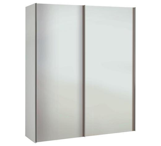 SCHRANK Weiß  - Alufarben/Weiß, Basics, Holzwerkstoff/Metall (175/216/48cm)