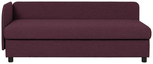 LIEGE in Textil Dunkelrot - Wengefarben/Dunkelrot, MODERN, Holz/Textil (206/80/94cm) - Joka