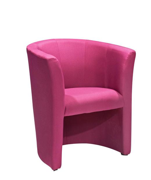 SESSEL Webstoff Pink - Pink/Schwarz, Design, Kunststoff/Textil (68/76/60cm) - CARRYHOME