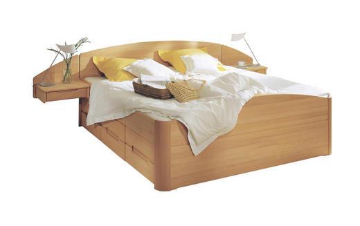 BETTANLAGE Buche massiv 180/200 cm - Buchefarben, Design, Holz (180/200cm) - Linea Natura