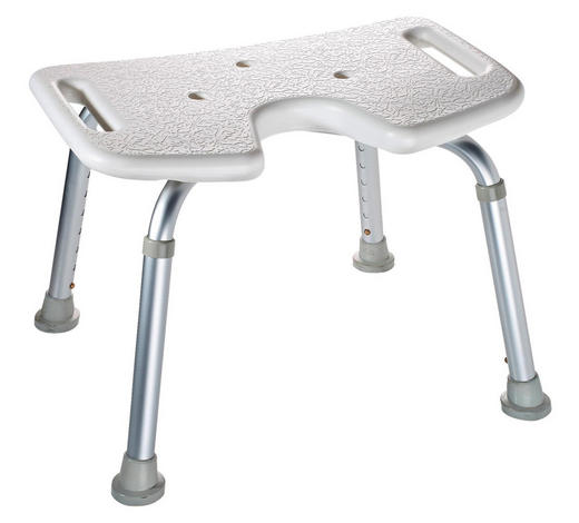 BADHOCKER Metall, Kunststoff - Silberfarben/Weiß, Basics, Kunststoff/Metall (48/34-52/31,5cm)