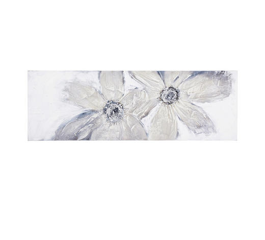 Blumen ÖLGEMÄLDE - Multicolor, LIFESTYLE, Holz/Textil (50/150cm) - Monee
