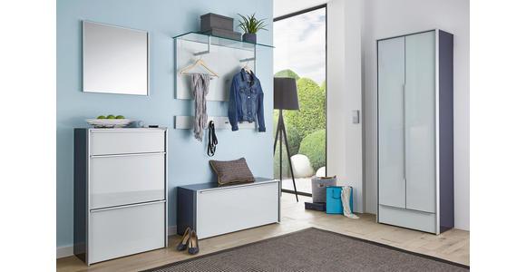 GARDEROBENBANK 102/44/33,5 cm - Alufarben/Schwarz, Design, Glas/Holzwerkstoff (102/44/33,5cm) - Dieter Knoll