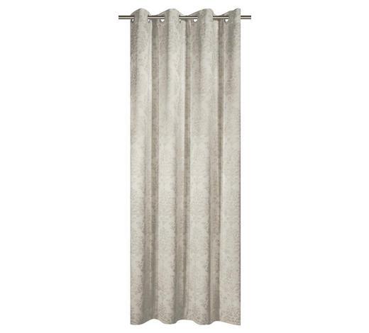 ZAVJESA S RINGOVIMA - krem, Konvencionalno, tekstil (135/245cm) - Venda