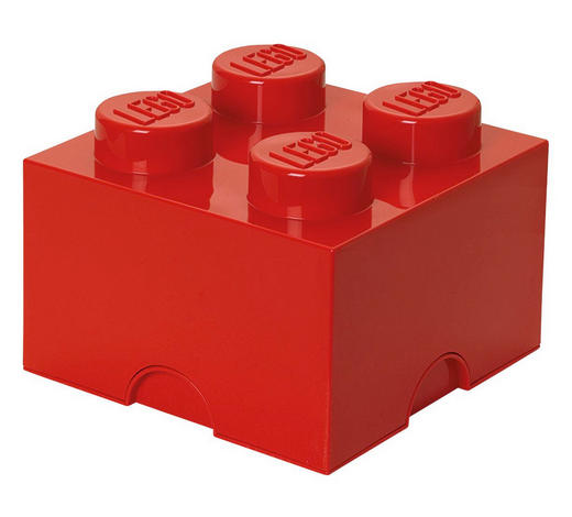 AUFBEWAHRUNGSBOX 25/25/18 cm - Rot, Trend, Kunststoff (25/25/18cm) - Lego