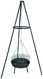 SCHWENKGRILL INDIANA - Rot/Schwarz, KONVENTIONELL, Metall (10,5kg)
