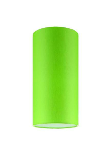 LEUCHTENSCHIRM  Hellgrün, Weiß  Kunststoff, Textil  E27 - Hellgrün/Weiß, Basics, Kunststoff/Textil (16/32cm)