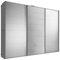 SCHWEBETÜRENSCHRANK in Grau, Schwarz - Schwarz/Grau, Design, Glas/Holzwerkstoff (249/222/68cm) - Moderano