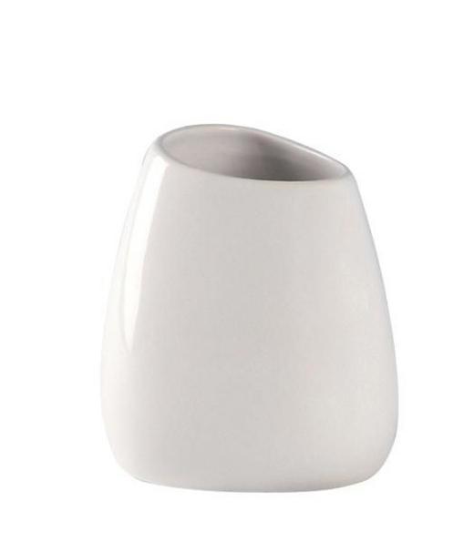 MUNDSPÜLBECHER - Weiß, Design, Keramik (9,6/10,5/8,5cm)