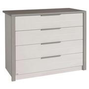 Wickelkommode Faro - Weiß/Grau, Design, Holzwerkstoff/Metall (117,3/90,4/56,2cm) - Paidi