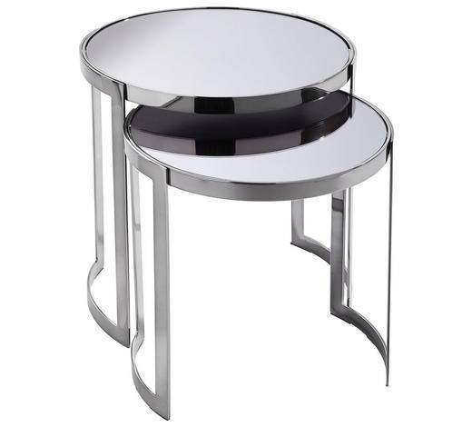 SATZTISCH in Schwarz - Schwarz, Design, Glas/Holzwerkstoff (45,7/40,6/45,7/40,6cm) - Xora