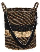 KOŠARA ZA REGAL - naravna/črna, Trendi, kovina/tekstil (30/35/42cm) - Landscape