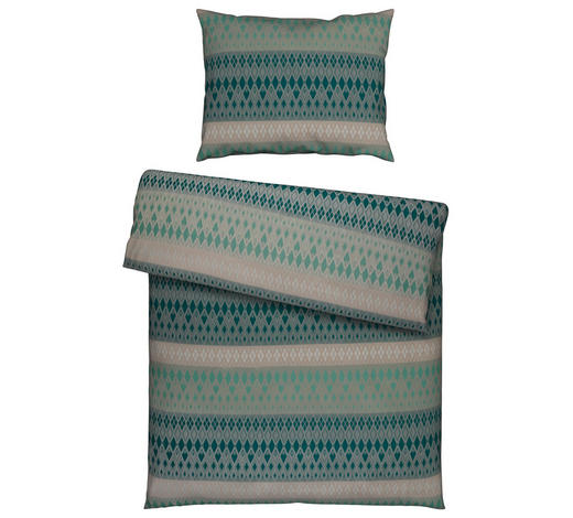 POVLEČENÍ, damašek, zelená, 140/200 cm - zelená, Lifestyle, textil (140/200cm) - Curt Bauer