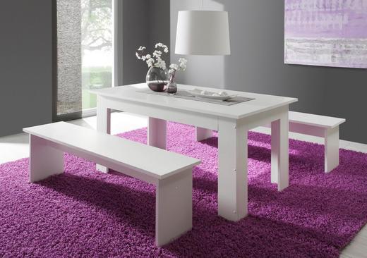 TISCHGRUPPE Weiß - Weiß, Design (140/80/75cm) - Carryhome