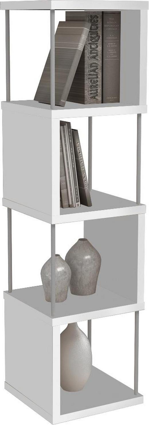 REGAL Weiß - Weiß, Design, Metall (33/126/33cm) - Xora