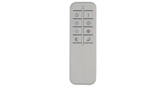 LED-DECKENLEUCHTE    55/40/12,7 cm  - Schwarz/Weiß, Design, Kunststoff/Metall (55/40/12,7cm) - Ambiente