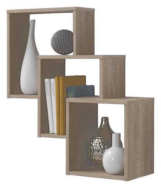 WANDREGAL Eiche Eichefarben - Eichefarben, Design (64/65,5/19cm) - CARRYHOME