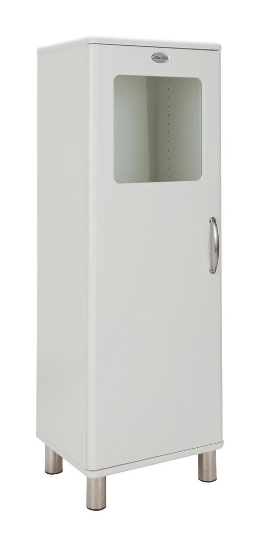 HIGHBOARD lackiert, Melamin Weiß - Weiß/Nickelfarben, Design, Glas/Holzwerkstoff (50/143/41cm) - Carryhome