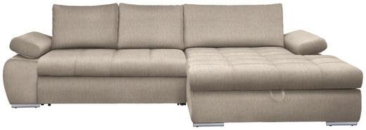 WOHNLANDSCHAFT in Textil Beige - Chromfarben/Beige, Design, Kunststoff/Textil (294/173cm) - Carryhome