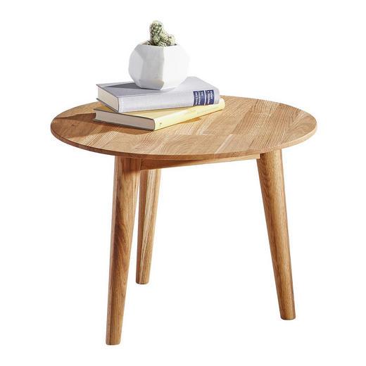 Couchtisch in Eichefarben - Eichefarben, Design, Holz (50/50/35cm) - Linea Natura