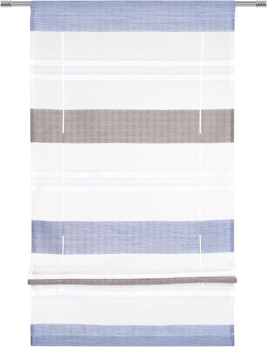 BÄNDCHENROLLO  halbtransparent   100/130 cm - Dunkelblau, Design, Textil (100/130cm) - Esposa