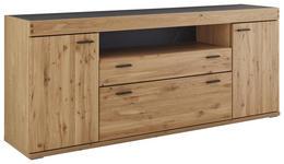 SIDEBOARD 195/80/44 cm  - Schieferfarben/Eichefarben, KONVENTIONELL, Holz/Holzwerkstoff (195/80/44cm) - Voleo