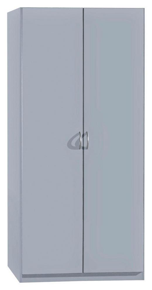 DREHTÜRENSCHRANK 2-türig Alufarben - Silberfarben/Alufarben, Design, Holzwerkstoff/Kunststoff (91/197/54cm) - Carryhome