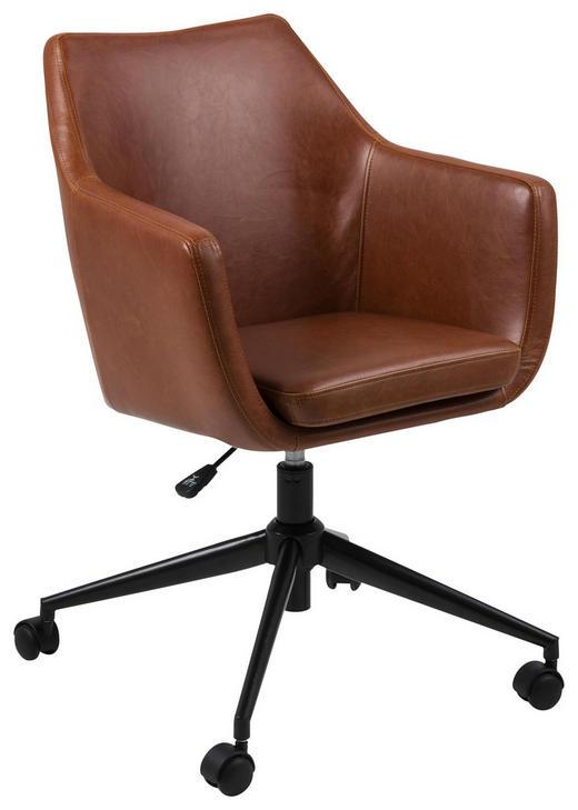 DREHSTUHL Lederlook Braun, Schwarz - Schwarz/Braun, Design, Kunststoff/Textil (58/91,5/58cm) - Carryhome