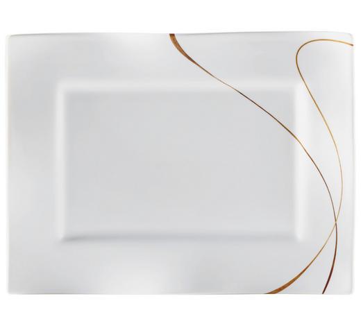 PLADENJ SCALA, 19/25 CM - bela/rjava, Konvencionalno, keramika (25/19/2cm) - Ritzenhoff Breker