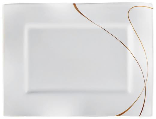 SERVIERPLATTE 25/19/2 cm - Braun/Weiß, Design, Keramik (25/19/2cm) - RITZENHOFF BREKER