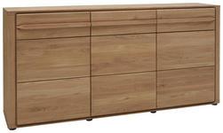 SIDEBOARD Wildeiche massiv geölt Eichefarben  - Eichefarben/Schwarz, KONVENTIONELL, Holz/Kunststoff (185/88/43cm) - Voleo