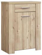 SCHUHSCHRANK Eichefarben - Eichefarben/Alufarben, KONVENTIONELL, Holzwerkstoff/Kunststoff (68,7/99,3/41,6cm) - XORA