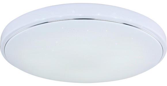 Led Deckenleuchte Lotta Ø 57,5 cm mit Farbwechsler - Weiß, MODERN, Kunststoff/Metall (57,5/8,5cm) - Luca Bessoni