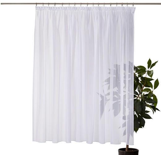FERTIGSTORE  transparent  450/245 cm - Weiß, Basics, Textil (450/245cm)