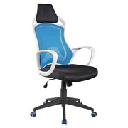 VRTLJIVI STOL - modra/črna, Design, umetna masa/tekstil (25/65/78cm) - XORA