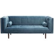 SOFA in Blau Textil - Blau/Dunkelbraun, Design, Holzwerkstoff/Textil (200/80/87cm) - Carryhome