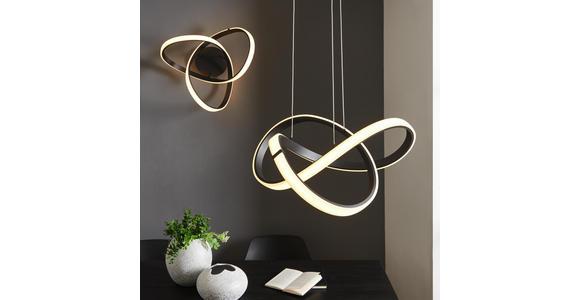 LED-HÄNGELEUCHTE  - Schwarz, Design, Metall (55/27/55cm) - Ambiente