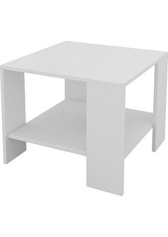 KLUBSKA MIZA, 55/42/55 cm bela  - bela, Design, leseni material (55/42/55cm) - Boxxx