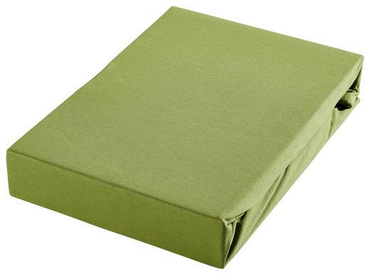 SPANNBETTTUCH Jersey Grün - Grün, Basics, Textil (100/200cm) - Bio:Vio